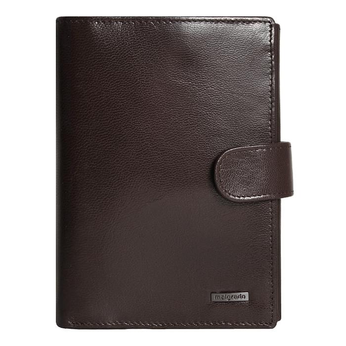Портмоне Malgrado, цвет: коричневый. 54006-5402D54006-5402DУниверсальное портмоне для документов Malgrado изготовлено из натуральной кожи коричневого цвета. Внутри содержит отдел для комплекта автодокументов, отдел для купюр. Имеет пятнадцать отделений для визиток, кредиток и карточек, пластиковый карман для проездного, пропуска или фотографии. Закрывается портмоне хлястиком на кнопке. Такое портмоне станет замечательным подарком человеку, ценящему качественные и практичные вещи. Характеристики: Материал: натуральная кожа, пластик. Размер портмоне: 14 см х 10,5 см х 2,5 см. Цвет: коричневый. Размер упаковки: 15,5 см х 11,5 см х 3,5 см. Артикул: 54006-5402D.