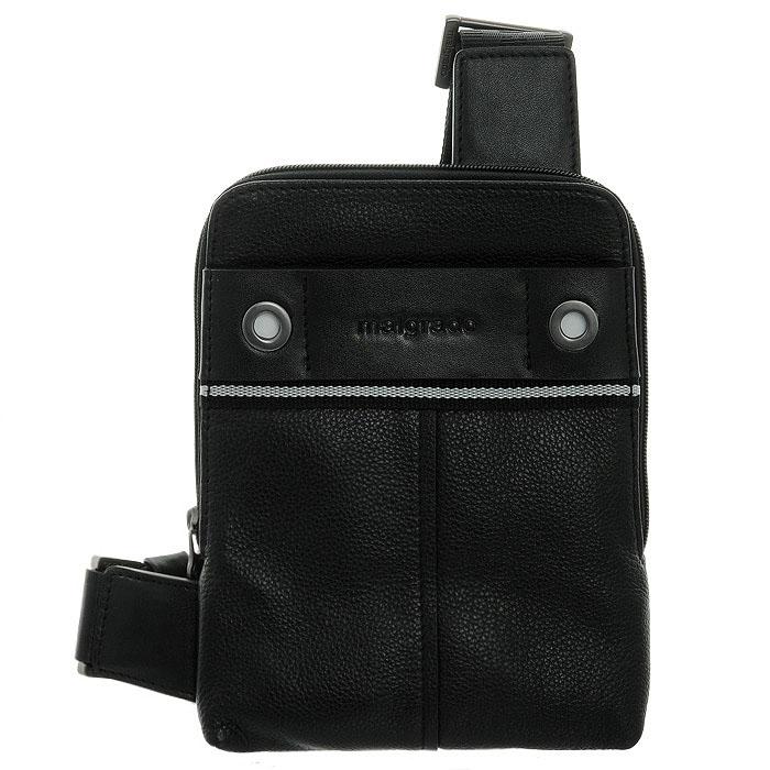 Сумка мужская Malgrado, цвет: черный. BR12-513B4743BR12-513B4743 black сумка мужская MalgradoМужская сумка Malgrado, выполнена из натуральной кожи. Основное отделение закрывается молнией. В основном отделе кармашек для мобильного телефона и карман на молнии. С внешней стороны сумочки сумки спереди и сзади небольшие кармашки на магнитных кнопках. Модель снабжена плечевым ремнем.