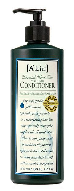 Akin Кондиционер Нежный, без отдушек, для чувствительной, сухой и склонной к перхоти кожи головы, 500 мл