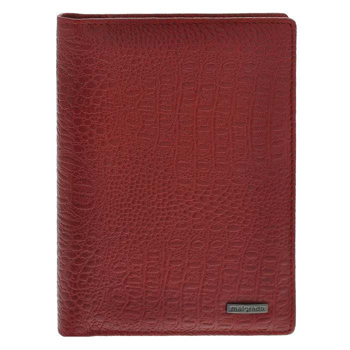 Обложка для паспорта Malgrado, цвет: красный. 54019-1-8203D54019-1-8203DСтильная обложка для паспорта Malgrado изготовлена из натуральной кожи красного цвета с декоративным тиснением. Внутри содержит прозрачное пластиковое окно, съемный прозрачный вкладыш для полного комплекта автодокументов, пять отделений для кредитных и дисконтных карт. Обложка упакована в подарочную картонную коробку с логотипом фирмы. Такая обложка станет замечательным подарком человеку, ценящему качественные и практичные вещи.