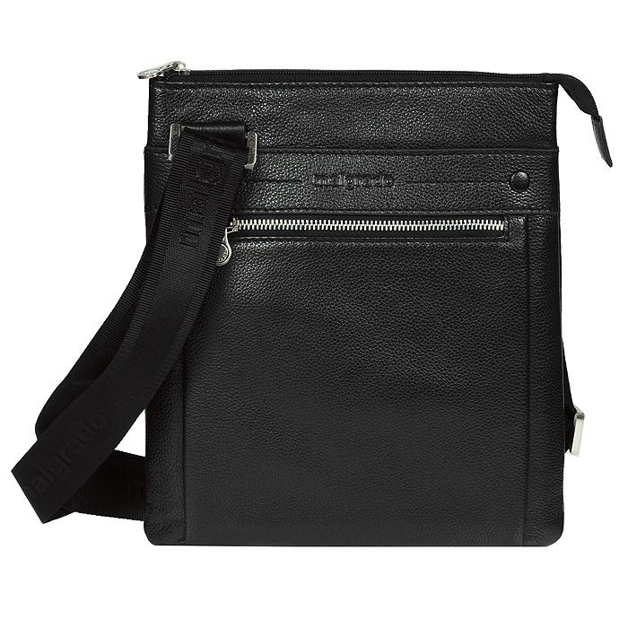 Сумка мужская Malgrado, цвет: черный. BR11-464BR11-464 blackОригинальная мужская сумка Malgrado выполнена из натуральной кожи черного цвета. Оригинальный дизайн модели выделит вас из толпы. Помимо основного отделения, сумка дополнена двумя отделами с передней стороны на молнии и задней стороны на магнитной кнопке, в которых вы сможете носить ключи, проездной и другие необходимые мелочи. В основном отделении карман на молнии и дополнительные кожаные кармашки для телефона, ручек и документов. Носить сумку вы сможете на плечевом реме, отрегулировав его длину.
