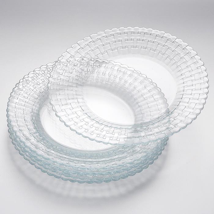 Набор тарелок Habitat, 6 шт10583Набор Habitat состоит из шести тарелок, выполненных из высококачественного закаленного стекла и декорированных рельефным узором. Тарелки сочетают в себе изысканный дизайн с максимальной функциональностью. Оригинальность оформления придется по вкусу и ценителям классики, и тем, кто предпочитает утонченность и изящность. Набор тарелок Habitat послужит отличным подарком к любому празднику. Характеристики: Материал: стекло. Диаметр тарелки: 20 см. Размер упаковки (Д х Ш х В): 21 см х 21 см х 5 см. Производитель: Турция. Артикул: 10583.