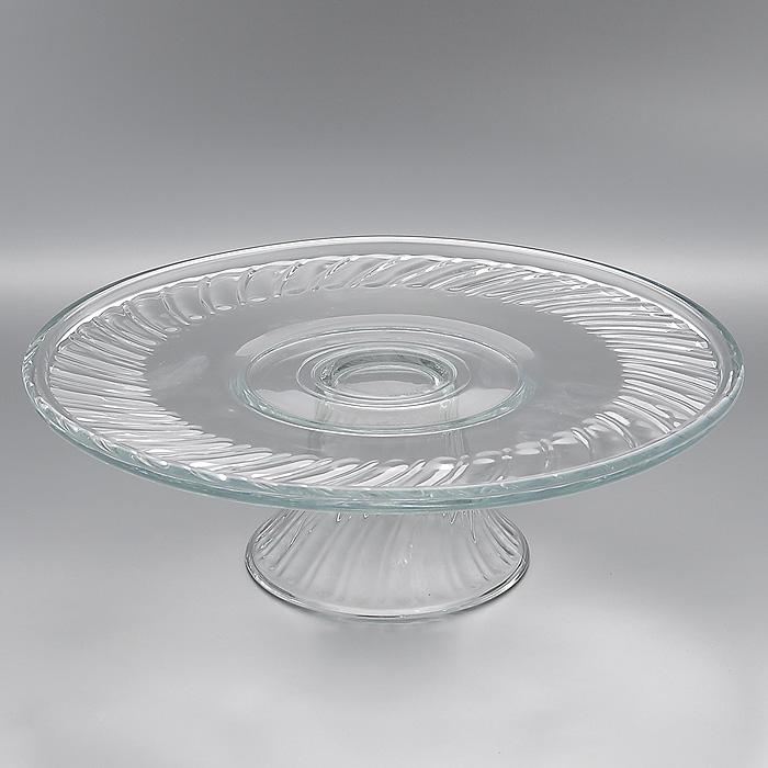Блюдо для торта Pastelero, диаметр 31 смМк 55543 (7696)Блюдо для торта Pastelero, выполненное из высококачественного стекла, оригинально украсит праздничный стол и поможет красиво расположить торт или пирог. Блюдо установлено на изящную ножку. Функциональность и эстетичность блюда Pastelero порадует любую хозяйку. Характеристики: Материал: стекло. Диаметр блюда: 31 см. Высота блюда: 12 см. Размер упаковки: 31 см х 31 см х 11 см. Артикул: Мк 55543 (7696).