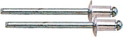 Набор вытяжных заклепок FIT,алюминиевые, 4 x 14 мм, 50 шт 23744