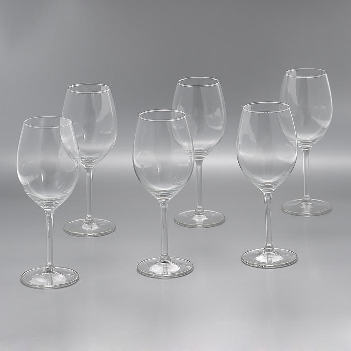 Набор бокалов для вина Lesprit Du Vin, 330 мл, 6 штГл 572308Набор Lesprit Du Vin, выполненный из высококачественного стекла, состоит из шести бокалов на ножке. Бокалы предназначены для подачи вина. Набор оценят как любители классики, так и те, кто предпочитает современный дизайн. Набор бокалов Lesprit Du Vin идеально подойдет для сервировки стола и станет отличным подарком к любому празднику.