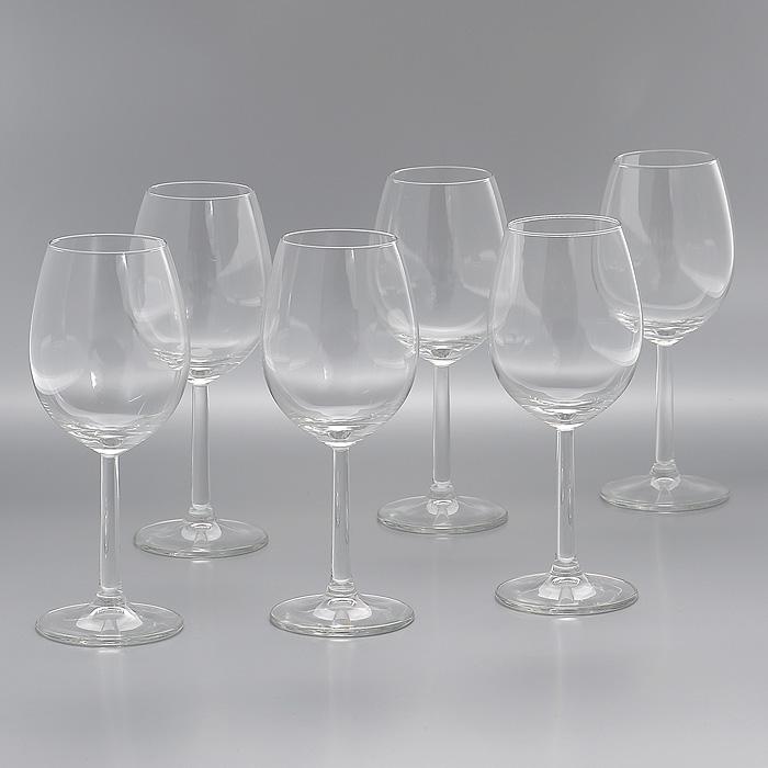 Набор бокалов Vinissimo, 320 мл, 6 штГл 606058Набор Vinissimo, выполненный из высококачественного стекла, состоит из шести бокалов на высокой ножке. Набор оценят как любители классики, так и те, кто предпочитает современный дизайн. Набор бокалов Vinissimo идеально подойдет для сервировки стола и станет отличным подарком к любому празднику.