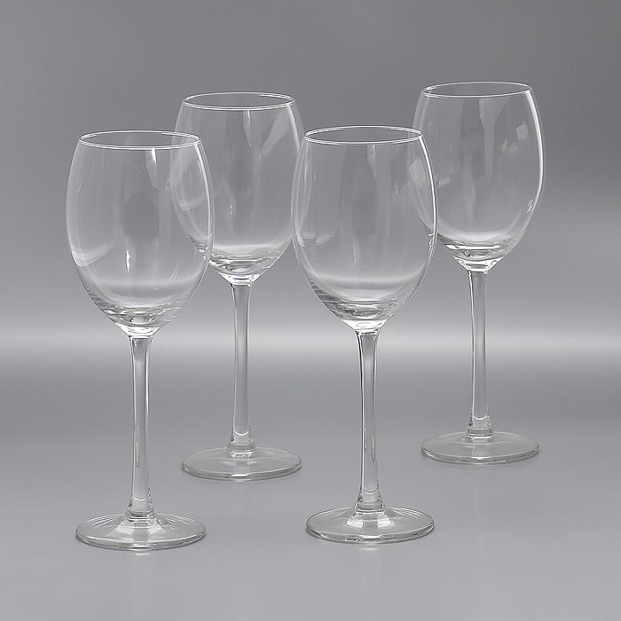 Набор бокалов Whats, 330 мл, 4 штГл 676044Набор Whats, выполненный из высококачественного стекла, состоит из четырех бокалов на ножке. Бокалы предназначены для подачи различных напитков. Набор оценят как любители классики, так и те, кто предпочитает современный дизайн. Набор бокалов Whats идеально подойдет для сервировки стола и станет отличным подарком к любому празднику.