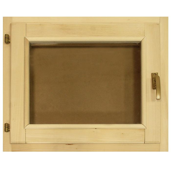 Форточка со стеклопакетом Банные штучки, 60 х 50 см03726Горизонтальная форточка со стеклопакетом Банные штучки изготовлена из липы и имеет вставку из стекла. В комплект входит: - Створка с однокамерным стеклопакетом (2 стекла); - Коробка из липы; - Петли; - 2 шурупа; - Ручка-затвор. Форточка уже собрана и готова к использованию, вам только достаточно прикрутить ручку и установить стеклопакет в проем. Окна и форточки в парной используют для быстрого выветривания влаги в помещении после банных процедур. Это продлевает срок службы деревянной обшивки, снижается риск образования плесени и грибка внутри помещения.