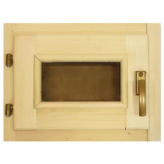 Форточка со стеклопакетом Банные штучки, 40 х 30 см32006Горизонтальная форточка со стеклопакетом Банные штучки изготовлена из липы и имеет вставку из стекла. В комплект входит: - Створка с однокамерным стеклопакетом (2 стекла); - Коробка из липы; - Петли; - 2 шурупа; - Ручка-затвор. Форточка уже собрана и готова к использованию, вам только достаточно прикрутить ручку и установить стеклопакет в проем. Окна и форточки в парной используют для быстрого выветривания влаги в помещении после банных процедур. Это продлевает срок службы деревянной обшивки, снижается риск образования плесени и грибка внутри помещения.