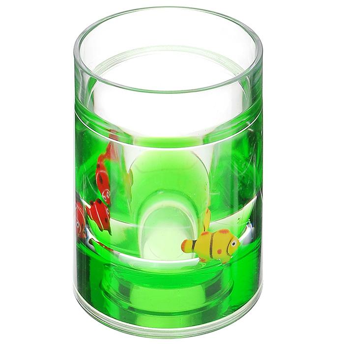 Стаканчик Рыбки, цвет: зеленый, желтый, красный850-55Стаканчик Рыбки, изготовленный из прозрачного пластика, отлично подойдет для вашей ванной комнаты. Внутри стакана зеленый гелиевый наполнитель с рыбками желтого и красного цветов. Стаканчик создаст особую атмосферу уюта и максимального комфорта в ванной. Характеристики: Материал: пластик, акрил, гелиевый наполнитель. Цвет: зеленый, желтый, красный. Диаметр стаканчика по верхнему краю: 7 см. Высота стаканчика: 10,5 см. Производитель: Швеция. Изготовитель: Китай. Размер упаковки: 8 см х 8 см х 11,5 см. Артикул: 850-55.