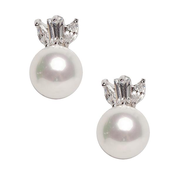 Серьги 'Diamond', цвет: белый. 20054640