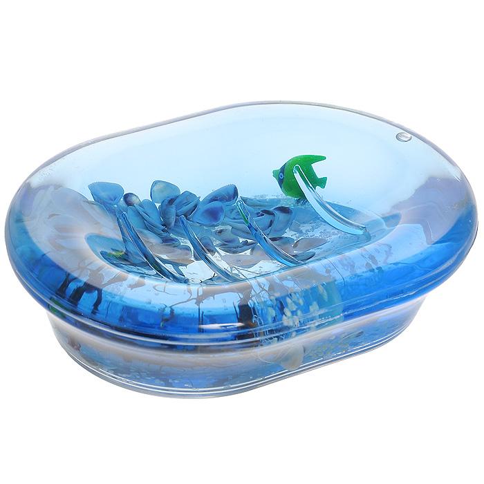 Мыльница Морские рыбки334-04Оригинальная мыльница Морские рыбки, изготовленная из прозрачного пластика, отлично подойдет для вашей ванной комнаты. Внутри мыльницы гелиевый наполнитель с маленькими ракушками, рыбками и веточками. Такая мыльница создаст особую атмосферу уюта и максимального комфорта в ванной.