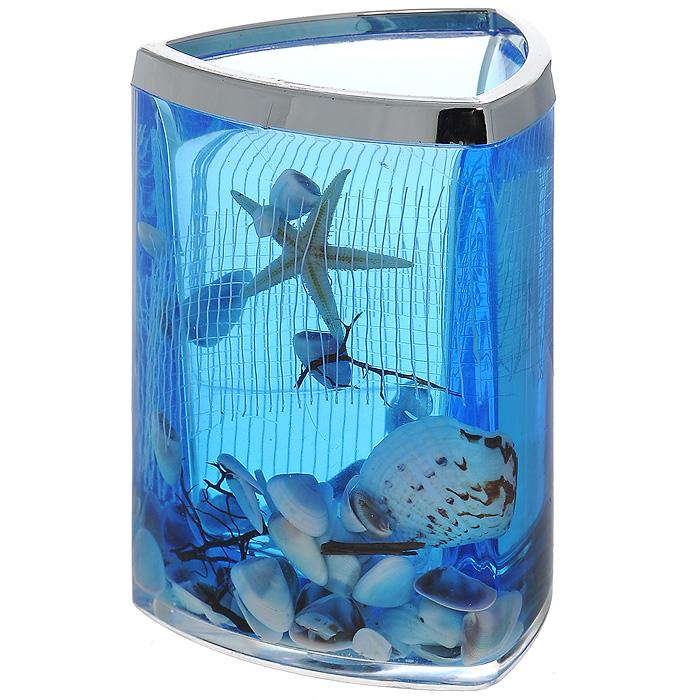 Стаканчик Seastar Blue857-37Стаканчик Seastar Blue, изготовленный из прозрачного пластика, отлично подойдет для вашей ванной комнаты. Стаканчик имеет двойные стенки, между которыми находится синий гелевый наполнитель с маленькими ракушками, морской звездой и белой сеткой. Стаканчик Seastar Blue создаст особую атмосферу уюта и максимального комфорта в ванной. Характеристики: Материал: пластик, акрил, гелевый наполнитель. Цвет: синий, белый, желтый. Размер стаканчика: 7,5 см х 7,5 см х 11 см. Производитель: Швеция. Изготовитель: Китай. Размер упаковки: 8 см х 8 см х 11,5 см. Артикул: 857-37.