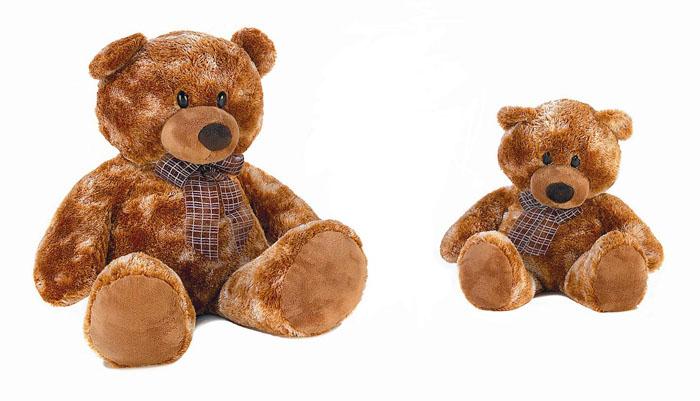 """Мягкая игрушка Aurora """"Медведь сидячий"""", цвет: коричневый, 74 см"""