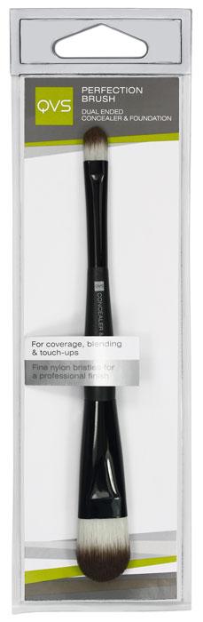 QVS Кисть для тональной основы макияжа и консилера. 10-110410-1104Ваша кожа будет выглядеть безупречно с помощью многоцелевой кисти QVS для макияжа. Двусторонняя кисть для основы макияжа и консилера идеально подходит для смешивания и нанесения тональной основы, а также для нанесения завершающих штрихов и маскировки дефектов кожи. Кончики кисти изготовлены из тонких нейлоновых волокон для профессионального нанесения жидких и кремообразных косметических средств.