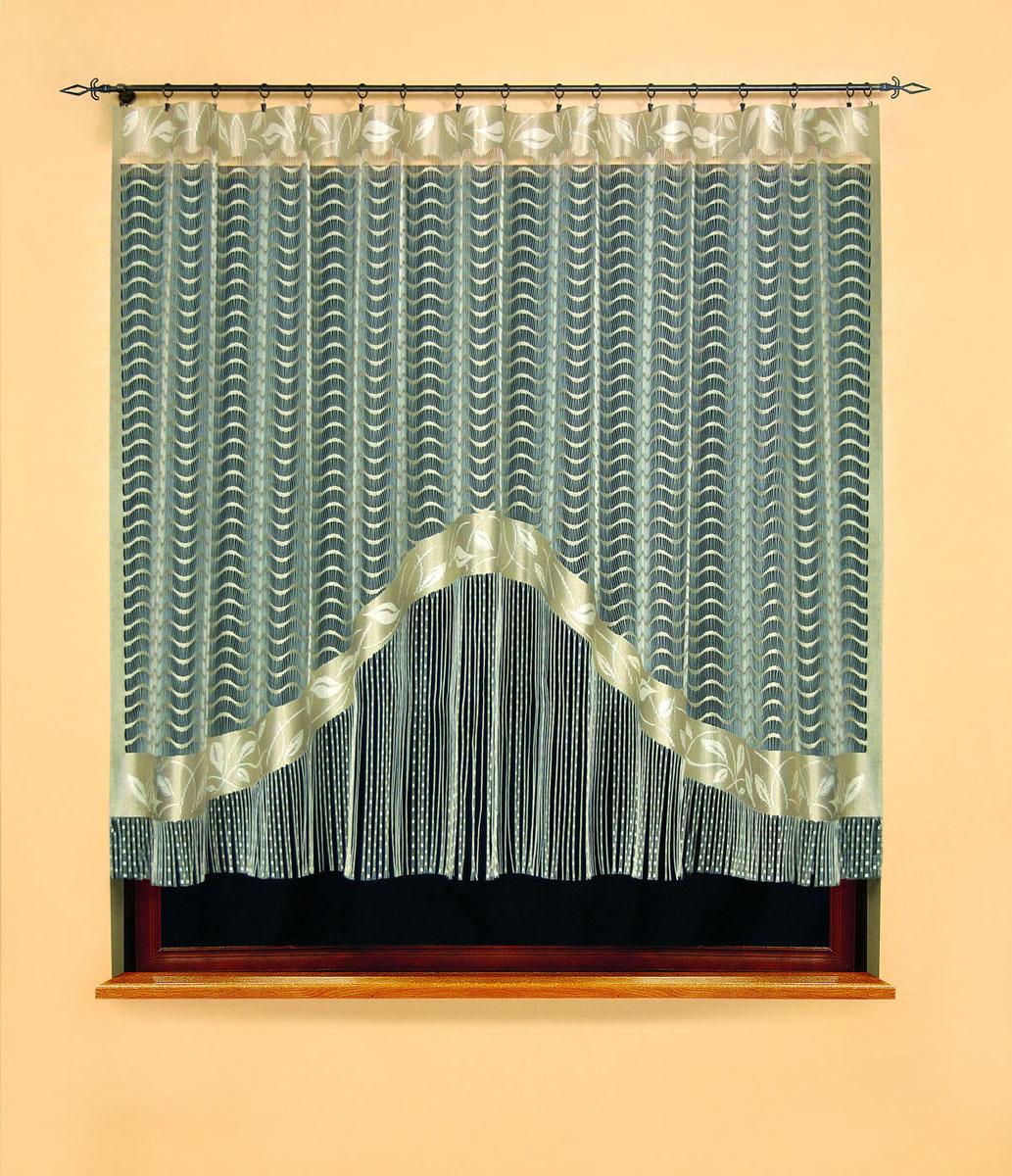 Гардина Gracjana, цвет: бежевый, высота 180 см582266Гардина Gracjana, изготовленная из полиэстера бежевого цвета, станет великолепным украшением любого окна. Нижняя часть гардины оформлена бахромой. Тонкое плетение, оригинальный дизайн и нежная цветовая гамма привлекут внимание и украсят интерьер помещения. Гардина крепится к карнизу только с помощью зажимов (в комплект не входят).
