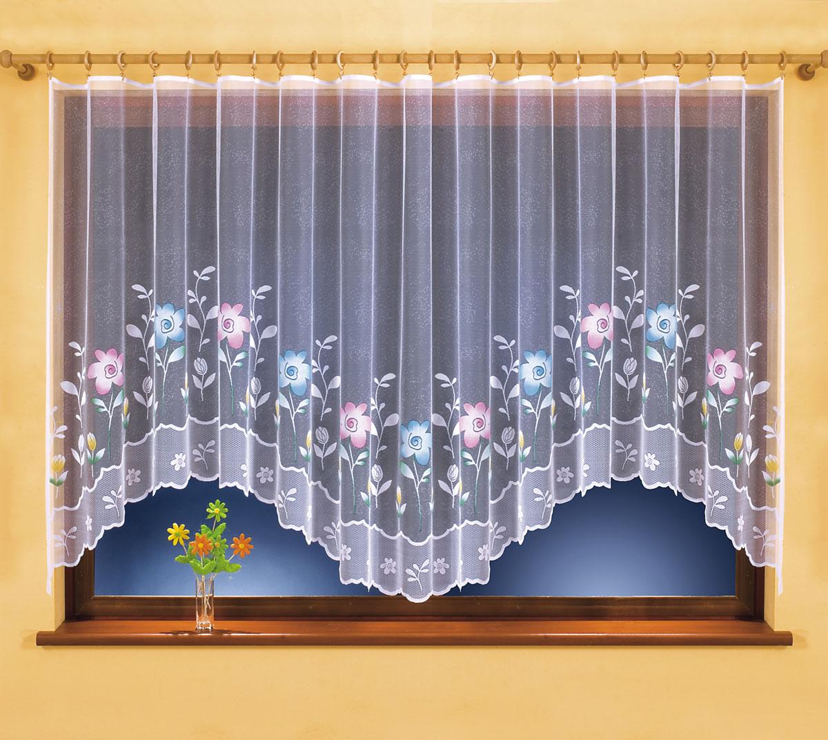 Гардина Martina, на ленте, цвет: белый, высота 150 см630776Воздушная гардина Martina, изготовленная из полиэстера белого цвета, станет великолепным украшением любого окна. Оригинальный дизайн и красочный цветочный рисунок привлекут к себе внимание и органично впишутся в интерьер комнаты. В гардину вшита шторная лента для собирания в сборки. Характеристики: Материал: 100% полиэстер. Размер упаковки: 27 см х 34 см х 2,5 см. Артикул: 630776. В комплект входит: Гардина - 1 шт. Размер (Ш х В): 400 см х 150 см. Фирма Wisan на польском рынке существует уже более пятидесяти лет и является одной из лучших польских фабрик по производству штор и тканей. Ассортимент фирмы представлен готовыми комплектами штор для гостиной, детской, кухни, а также текстилем для кухни (скатерти, салфетки, дорожки, кухонные занавески). Модельный ряд отличает оригинальный дизайн, высокое качество. Ассортимент продукции постоянно пополняется.