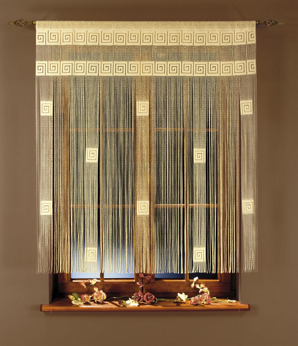 Гардина-лапша Ira, на кулиске, цвет: кремовый, высота 160 см663354Гардина-лапша Ira, изготовленная из полиэстера кремового цвета, станет великолепным украшением окна, дверного проема и прекрасно послужит для разграничения пространства. Необычный дизайн и яркое оформление привлекут внимание и органично впишутся в интерьер. Гардина-лапша оснащена кулиской для крепления на круглый карниз.