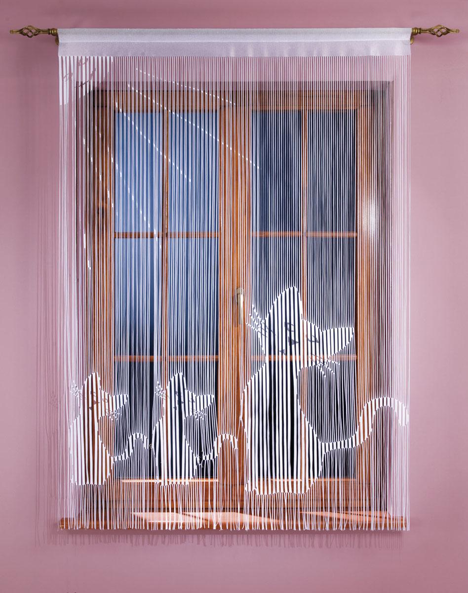 Гардина-лапша Koty, на кулиске, цвет: белый, высота 160 см666980Гардина-лапша Koty, изготовленная из полиэстера белого цвета, станет великолепным украшением окна, дверного проема и прекрасно послужит для разграничения пространства. Гардина оформлена мелкой бахромой и изображением котят. Необычный дизайн и яркое оформление привлекут внимание и органично впишутся в интерьер. Гардина-лапша оснащена кулиской для крепления на круглый карниз. Характеристики: Материал: 100% полиэстер. Цвет: белый. Высота кулиски: 5,5 см. Размер упаковки: 27 см х 37 см х 3 см. Артикул: 666980. В комплект входит: Гардина-лапша - 1 шт. Размер (ШхВ): 150 см х 160 см. Фирма Wisan на польском рынке существует уже более пятидесяти лет и является одной из лучших польских фабрик по производству штор и тканей. Ассортимент фирмы представлен готовыми комплектами штор для гостиной, детской, кухни, а также текстилем для кухни (скатерти, салфетки, дорожки, кухонные занавески). Модельный ряд отличает оригинальный...