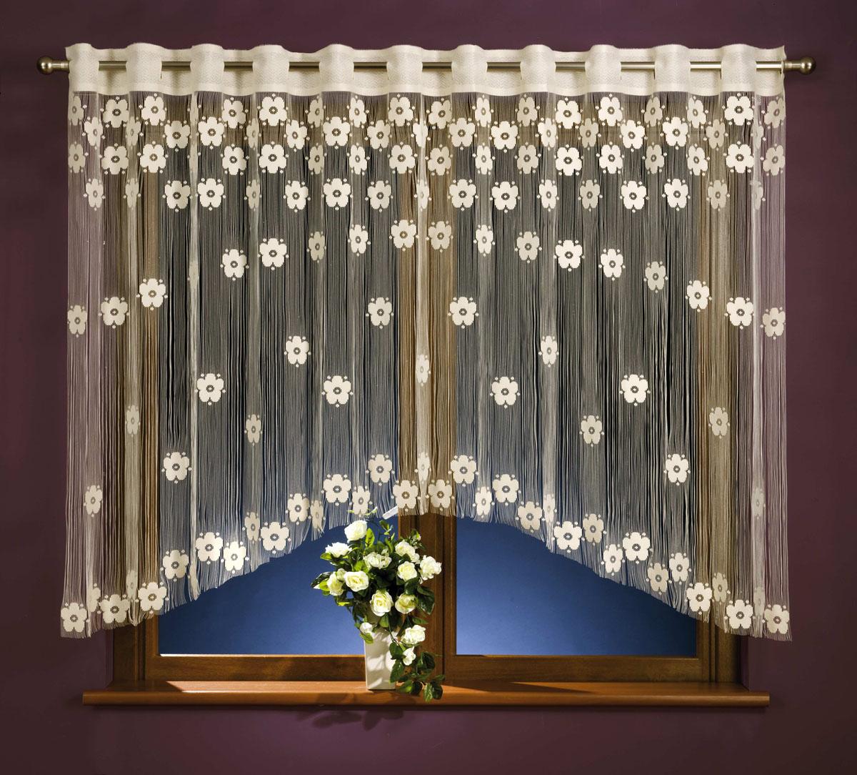 Гардина-лапша Maja, на петлях, цвет: белый, высота 160 см676040Легкая гардина-лапша Maja, изготовленная из полиэстера белого цвета, станет великолепным украшением любого окна. Тонкое плетение, оригинальный дизайн привлекут к себе внимание и органично впишутся в интерьер комнаты. Гардина-лапша оснащена петлями для крепления на круглый карниз.