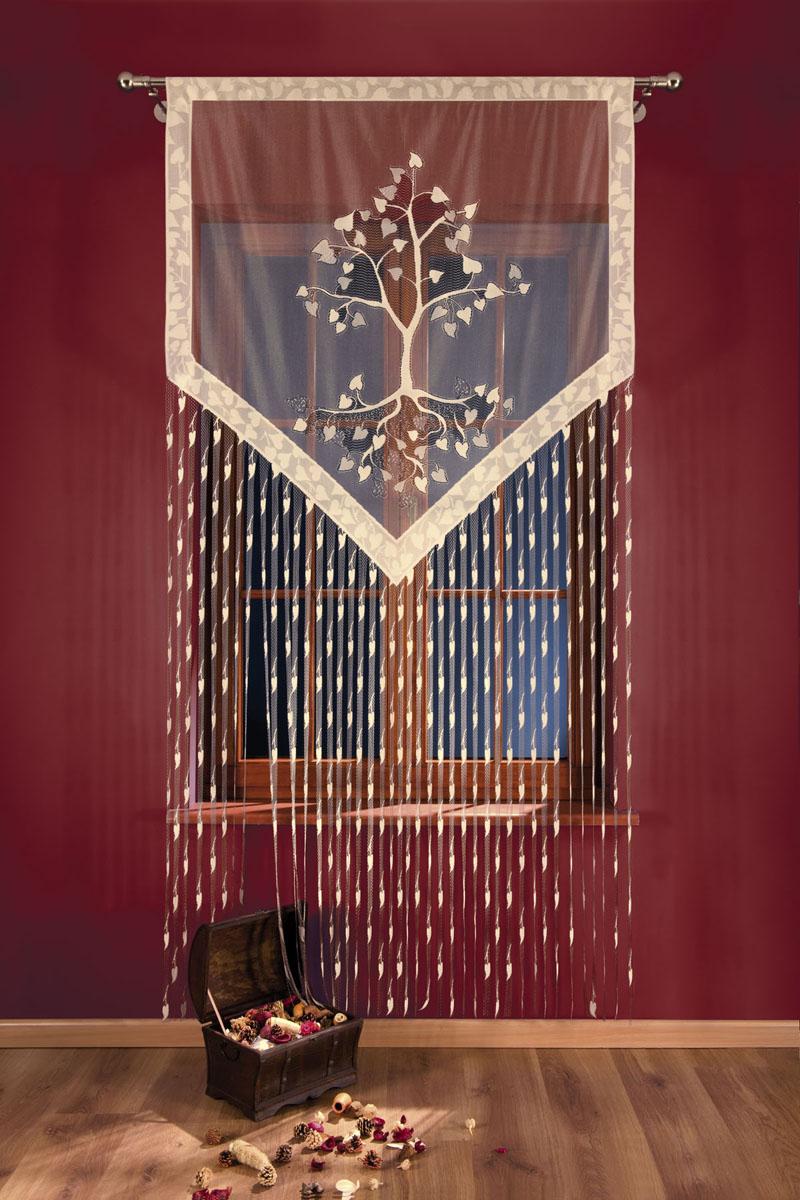 Гардина-лапша Wisan, на кулиске, цвет: серо-бежевый, высота 250 см691401Гардина-лапша Wisan, изготовленная из полиэстера серо-бежевого цвета, станет великолепным украшением любого окна. Гардина-лапша отличается от других видов гардин тем, что имеет основание, на которое крепится бахрома. Это отличное решение как для гардины на окно, так и для портьеры в дверной проем или просто занавески для разграничения пространства в комнате. Тонкое плетение и рисунок в виде лепестков привлекут к себе внимание и органично впишутся в интерьер комнаты. Гардина оснащена кулиской для крепления на круглый карниз. Характеристики: Материал: 100% полиэстер. Цвет: серо-бежевый. Высота кулиски: 4,5 см. Размер упаковки: 27 см х 36 см х 2 см. Артикул: 691401. В комплект входит: Гардина-лапша - 1 шт. Размер (ШхВ): 120 см х 250 см. Фирма Wisan на польском рынке существует уже более пятидесяти лет и является одной из лучших польских фабрик по производству штор и тканей. Ассортимент фирмы представлен готовыми комплектами штор...