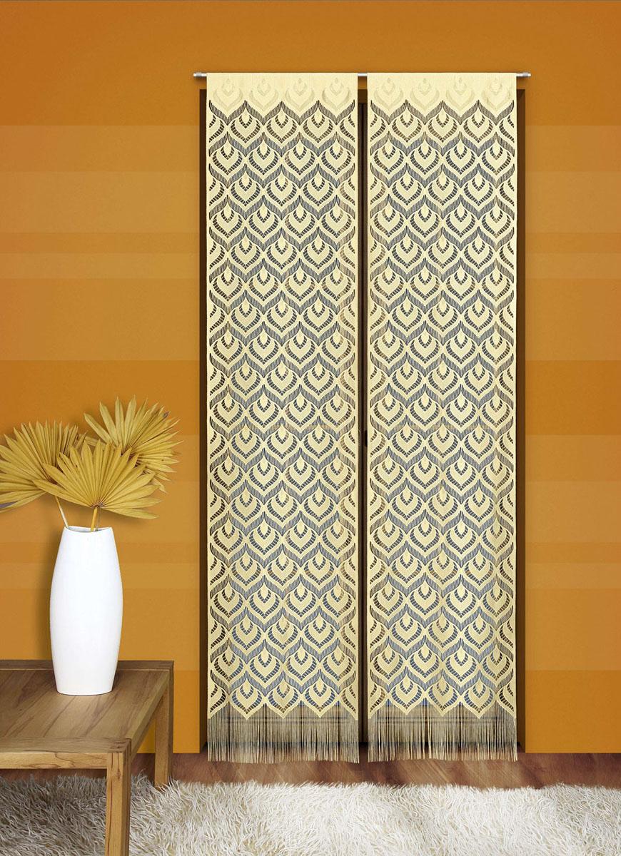 Гардина-панно Wisan Mozaika, на кулиске, цвет: желтый, высота 240 см711147Воздушная гардина-панно Wisan Mozaika, изготовленная из полиэстера, станет великолепным украшением любого окна. Тонкое плетение, оригинальный принт привлекут к себе внимание и органично впишутся в интерьер комнаты. Верхняя часть гардины оснащена кулиской для крепления на круглый карниз. В комплект входит: Гардина-панно (50 см х 240 см): 1 шт. Высота кулиски: 5,5 см.