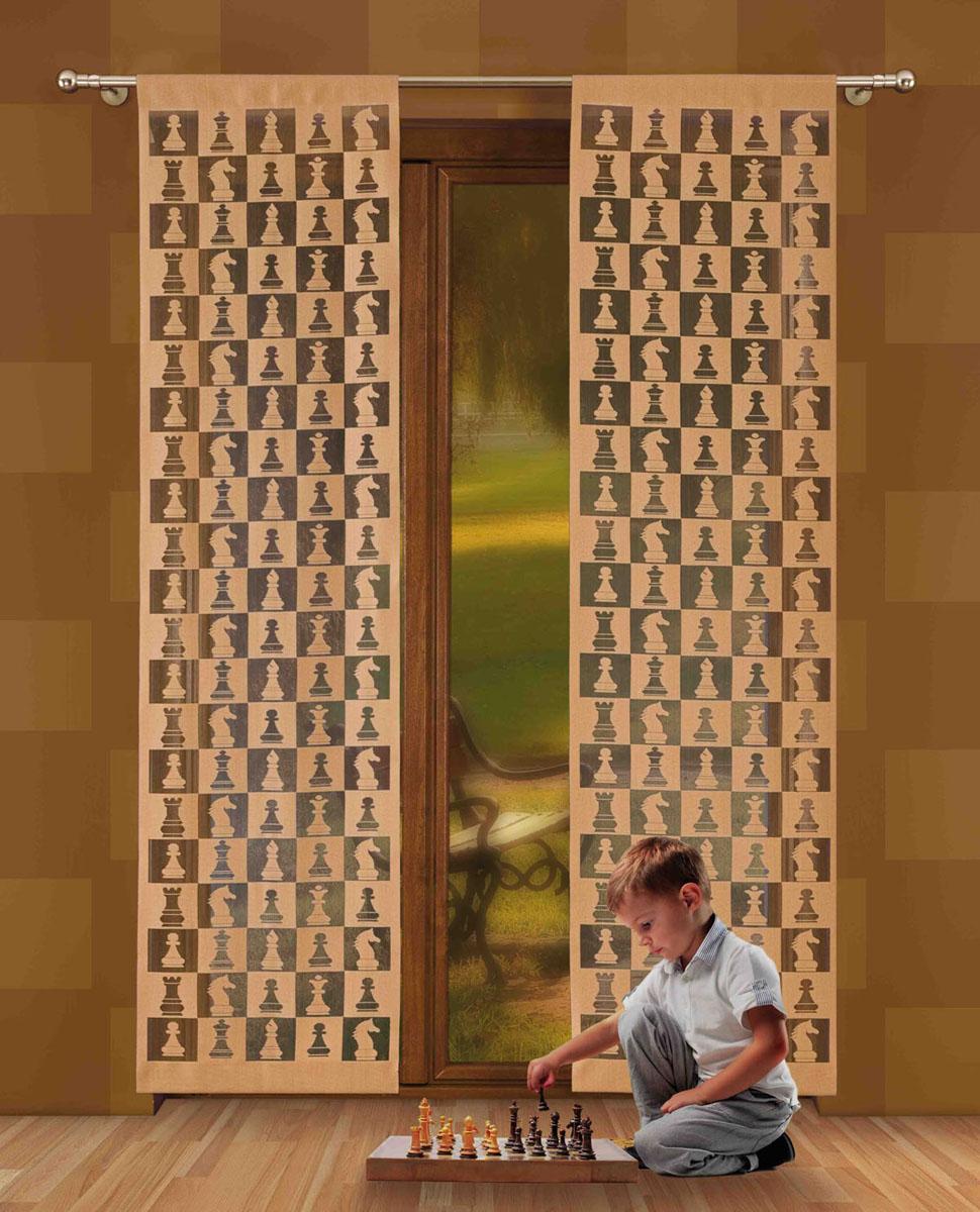 Гардина-панно Szachy, на кулиске, цвет: кофейный, высота 230 см724802Гардина-панно Szachy, изготовленная из полиэстера кофейного, станет великолепным украшением любого окна. Оригинальный принт в виде шахматных фигур и приятная цветовая гамма привлекут к себе внимание и органично впишутся в интерьер комнаты. Верхняя часть гардины-панно оснащена кулиской для крепления на круглый карниз. Характеристики: Материал: 100% полиэстер. Размер упаковки: 27 см х 34 см х 2 см. Артикул: 724802. В комплект входит: Гардина-панно - 1 шт. Размер (Ш х В): 50 см х 230 см. Фирма Wisan на польском рынке существует уже более пятидесяти лет и является одной из лучших польских фабрик по производству штор и тканей. Ассортимент фирмы представлен готовыми комплектами штор для гостиной, детской, кухни, а также текстилем для кухни (скатерти, салфетки, дорожки, кухонные занавески). Модельный ряд отличает оригинальный дизайн, высокое качество. Ассортимент продукции постоянно пополняется.