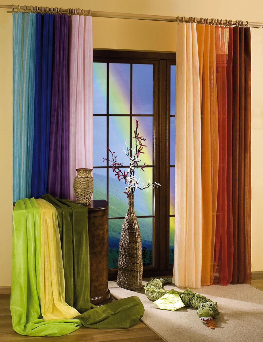 Гардина-тюль Wisan, на ленте, цвет: кремовый, высота 250 см