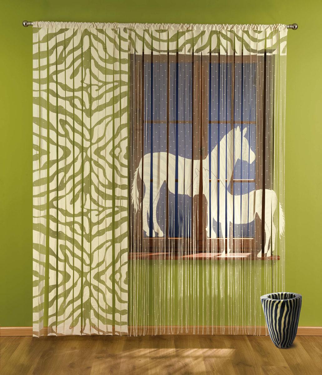 Гардина-лапша Zebra, на кулиске, цвет: бежевый, высота 240 см735709Гардина-лапша Zebra, изготовленная из полиэстера бежевого цвета, станет великолепным украшением окна, дверного проема и прекрасно послужит для разграничения пространства. Гардина имеет необычный оригинальный дизайн с принтом в виде полосок зебры, правая часть гардины оформлена мелкой бахромой. Гардина-лапша оснащена кулиской для крепления на круглый карниз. Характеристики: Материал: 100% полиэстер. Цвет: бежевый. Высота кулиски: 6,5 см. Размер упаковки: 29 см х 35 см х 4 см. Артикул: 735709. В комплект входит: Гардина-лапша - 1 шт. Размер (ШхВ): 150 см х 240 см. Гардина-лапша - 1 шт. Размер (ШхВ): 90 см х 240 см. Фирма Wisan на польском рынке существует уже более пятидесяти лет и является одной из лучших польских фабрик по производству штор и тканей. Ассортимент фирмы представлен готовыми комплектами штор для гостиной, детской, кухни, а также текстилем для кухни (скатерти, салфетки, дорожки, кухонные занавески)....