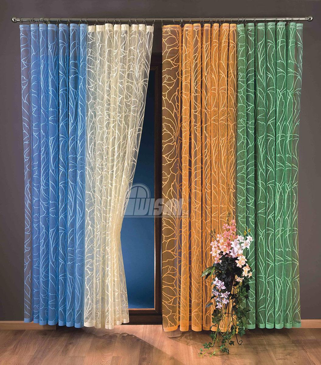 Гардина-тюль Zara, на ленте, цвет: зеленый, высота 250 см737208Воздушная гардина-тюль Zara, изготовленная из полиэстера зеленого цвета, станет великолепным украшением любого окна. Тонкое плетение, оригинальный дизайн и приятная цветовая гамма привлекут к себе внимание и органично впишутся в интерьер комнаты. В гардину-тюль вшита шторная лента.