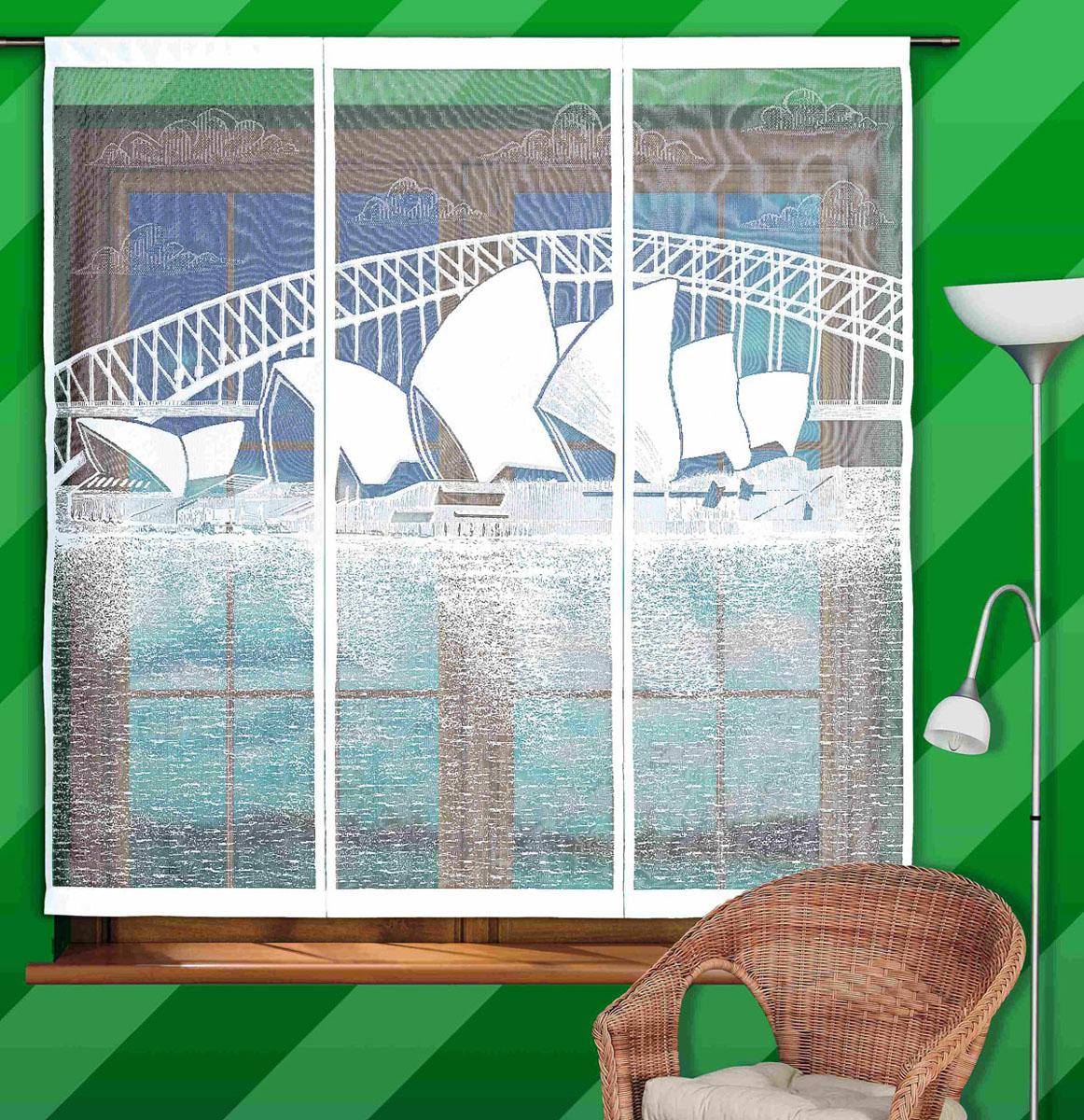 Гардина-панно Sidney, на кулиске, цвет: белый, высота 160 см747139Воздушная гардина-панно Sidney, изготовленная из полиэстера белого цвета, станет великолепным украшением любого окна. Тонкое плетение и оригинальный рисунок в виде здания Оперы в Сиднее привлечет к себе внимание и органично впишется в интерьер. Гардина оснащена кулиской для крепления на круглый карниз. Характеристики: Материал: 100% полиэстер. Цвет: белый. Высота кулиски: 7 см. Размер упаковки: 27 см х 36 см х 3 см. Артикул: 747139. В комплект входит: Гардина-панно - 1 шт. Размер (ШхВ): 150 см х 160 см. Фирма Wisan на польском рынке существует уже более пятидесяти лет и является одной из лучших польских фабрик по производству штор и тканей. Ассортимент фирмы представлен готовыми комплектами штор для гостиной, детской, кухни, а также текстилем для кухни (скатерти, салфетки, дорожки, кухонные занавески). Модельный ряд отличает оригинальный дизайн, высокое качество. Ассортимент продукции постоянно пополняется.