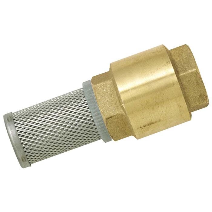 Клапан с фильтром Boutte, неразъемный, 11/42142574Обратный клапан Boutte предназначен для того, чтобы перекачиваемая жидкость не стекала из насоса и всасывающей магистрали обратно под действием силы тяжести после прекращения работы насоса, либо для того, чтобы жидкость двигалась только в заданном направлении. То есть для предотвращения обратного тока жидкости. Применение обратного клапана позволяет насосу сразу же по включении в работу перекачивать жидкость, а не воздух из опустевшей за время простоя насоса всасывающей магистрали.