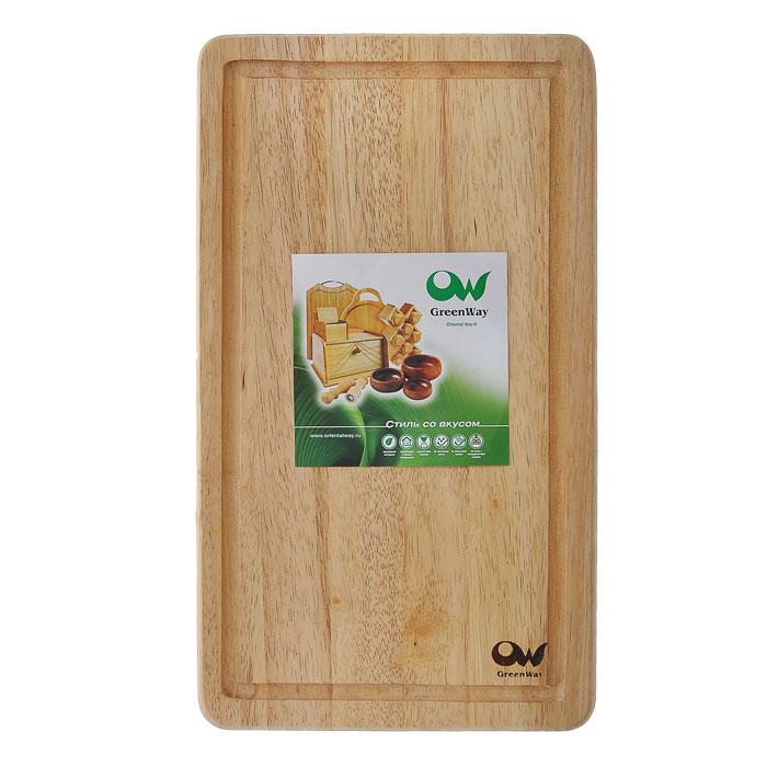 Доска разделочная Oriental way, 23 х 40 см9/627Прямоугольная разделочная доска Oriental way изготовлена из высококачественной древесины гевеи. Доска имеет углубление для стока жидкости. Прекрасно подходит для приготовления и сервировки пищи. Особенности разделочной доски Oriental way: высокое качество шлифовки поверхности изделий двухслойное покрытие пищевым лаком, безопасным для здоровья человека степень влажности 8-10%, не трескается и не рассыхается высокая плотность структуры древесины устойчива к механическим воздействиям. Характеристики: Материал: дерево (гевея). Размер: 23 см х 40 см х 1,5 см. Артикул: 9/627. Торговая марка Oriental way известна на рынке с 1996 года. Эта марка объединяет товары для кухни, изготовленные из дерева и других материалов. Все товары марки Oriental way являются безопасными для здоровья, экологичными, прочными и долговечными в использовании.