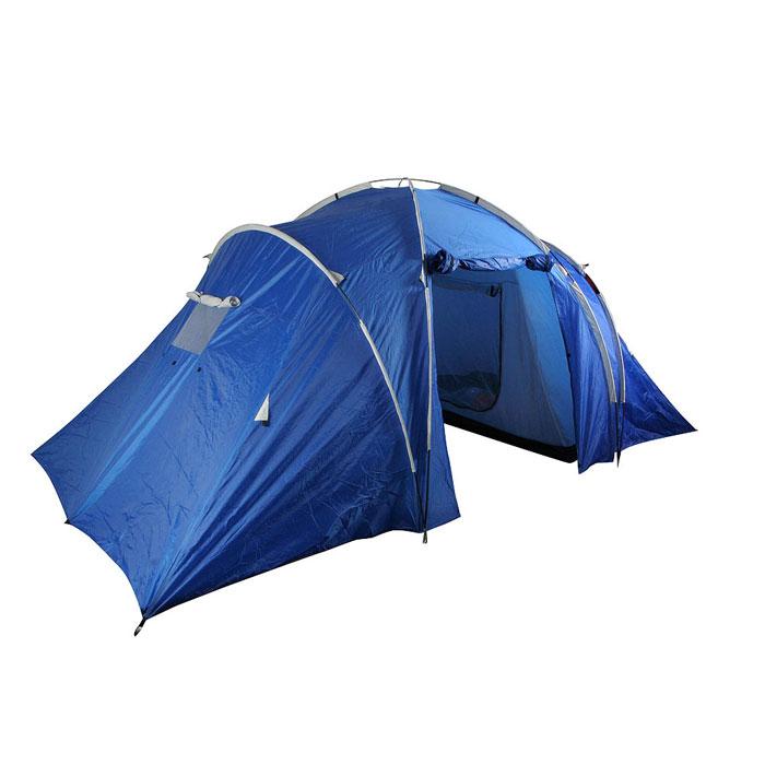 Палатка четырехместная Columbus KANSAS двухслойная; цвет: синий2742Четырехместная палатка Columbus KANSAS с двумя спальными помещениями расположенными напротив друг друга и соединенными большим тамбуром. Рассчитана на четыре спальных места, поэтому с ней можно отправляться на природу вместе с семьей или друзьями. Внутренние палатки можно при необходимости отстегнуть, и использовать пространство под тентом как одно помещение, или как 2-х местная палатка с отдельным помещением. Специальные оконные отверстия гарантируют нормальный воздухообмен. Широкий вход позволяет свободно заходить в палатку. Просмотреть видео-инструкцию по сборке палатки вы можете здесь http://www.big-game.spb.ru/brands/columbus/ Характеристики: Вместимость: 4 человека. Размер палатки в разложенном виде (ДхШхВ): 470 см х 240 см х 190 см. Наружный тент: полиэстер 75D 190Т, PU 2000 мм. Внутренняя палатка: полиэстер 170Т. Дно: терпаулинг, PU 10000 мм. Каркас: дуги из фибергласа диаметром 8,5 мм и 9,5 мм. ...