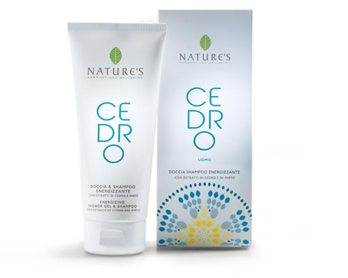 Natures Шампунь и гель для душа 2 в 1 Cedro, для мужчин, 200 мл60270706Шампунь-гель для душа Natures Cedro идеально подходит для ежедневного использования и после занятий спортом. Мягко очищает и дезодорирует, оставляя кожу свежей, гладкой и увлажненной, а волосы сильными и блестящими. Растительные поверхностно активные вещества обеспечивают оптимальный кислотно-щелочной баланс кожи. Цитрон и мирта, богатые витаминами, минералами и олегоэлементами, интенсивно увлажняют и тонизируют кожу, наполняют энергией, надолго обеспечивают ощущение свежести. Утром пробуждает и стимулирует к действию, дарит ощущение комфорта и успеха. Вечером успокаивает, снимает напряжение, избавляя от чувства тревоги. Характеристики: Объем: 200 мл. Производитель: Италия. Артикул: 60270706. Товар сертифицирован.
