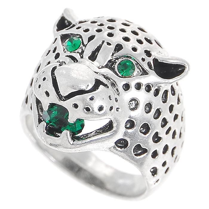 Кольцо Fashion House, цвет: серебристый. Размер 17. FH29386FH29386Оригинальное кольцо Fashion House выполнено из металла серебристого цвета в виде головы леопарда и украшено зелеными стразами. Кольцо позволит вам с легкостью воплотить самую смелую фантазию и создать собственный, неповторимый образ. Красивое и необычное украшение блестяще подчеркнет ваш изысканный вкус и поможет внести разнообразие в привычный образ. Характеристики: Материал: металл, стразы. Размер кольца: 17. Высота кольца: 2,5 см. Артикул: FH29386.