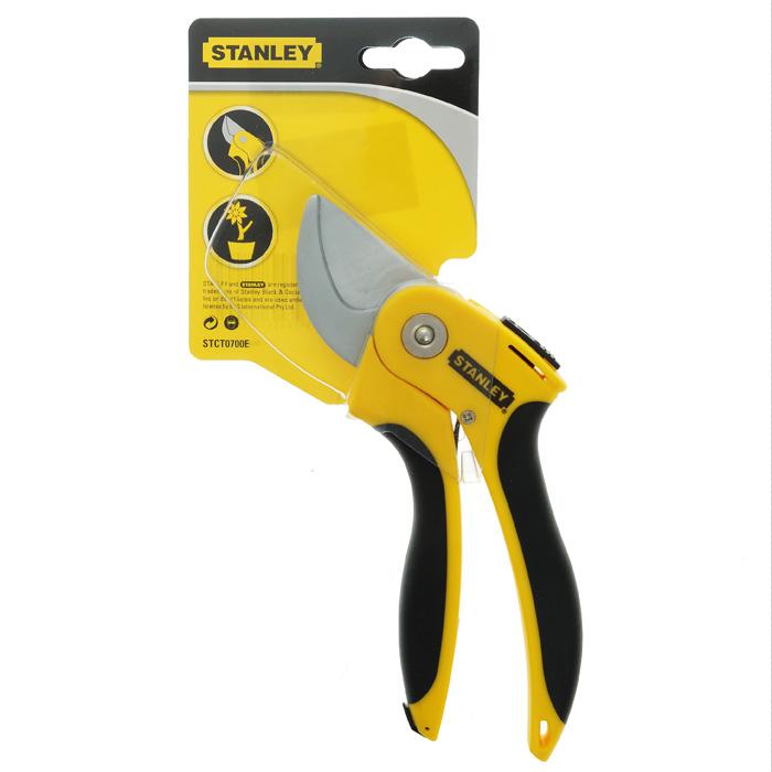 Секатор профессиональный Stanley обводной, цвет: черный, желтый, 20 см STCT0700E