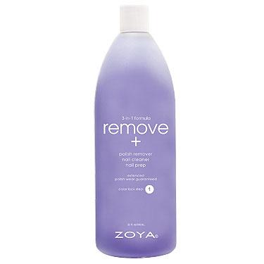 Zoya Жидкость для снятия лака для ногтей 3-в-1 Remove+, 960 млZTRM03Формула-прорыв, обеспечивающая всестороннее воздействие, и дающая эффект как от использования нескольких различных продуктов. Увлажняет, питает и укрепляет ногтевую пластину. Действует одновременно как очищающее, и как подготовительное средство, устраняет следы жира, лака и пятен, препятствующих совершенному нанесению лака. Помогает повысить стойкость лака. Применение: намочите салфетку средством и массирующими движениями нанесите на ноготь, чтобы размягчить лак. Вытрите насухо. Повторите перед нанесением базового покрытия для достижения безупречного результата! Remove+ действует в качестве подготовительного средства на начальной стадии в процессе маникюра, очищающее средство удаляет лишние частицы, масла и остатки применявшихся ранее продуктов с поверхности ногтевой пластины. Средство для снятия лака удаляет лак, одновременно увлажняя ногти.