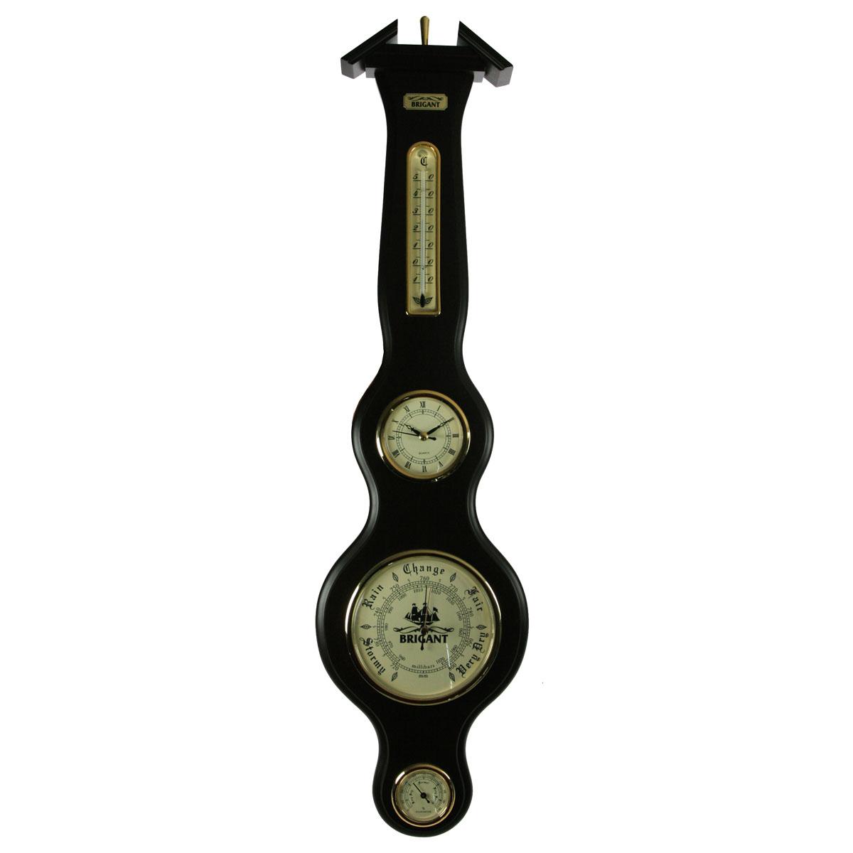 Часы-метеостанция настенная Brigant: барометр, термометр, гигрометр. 2802628026Часы-метеостанция Brigant выполнена в виде деревянной лакированной панели с расположенными на ней часами, термометром, барометром и гигрометром. Модель выполнена в духе морской тематики, хромировка под золото и светлый благородный цвет дерева делают этот предмет интерьера заслуживающим восхищения и гордости. Прилагается инструкция по эксплуатации на русском языке.