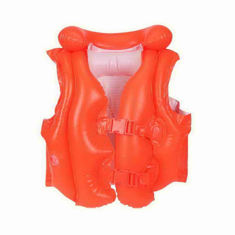 Детский надувной жилет Intex Делюкс, цвет: оранжевый, 50 см х 47 смint58671NPДетский надувной жилет Intex Делюкс предназначен для плавания и отдыха на воде. Жилет выполнен из прочного ПВХ оранжевого цвета и оснащен тремя воздушными отсеками, включая надувной воротник, и двумя регулируемыми ремнями с пластиковыми карабинами. С помощью надувного жилета Intex Делюкс ваш ребенок сможет быстро и без страха научиться плавать и держаться на воде. Гарантия производителя: 30 дней. Характеристики: Размер жилета: 50 см х 47 см. УВАЖАЕМЫЕ КЛИЕНТЫ! Просим вас обратить внимание на тот факт, что жилет поставляется в сдутом виде.
