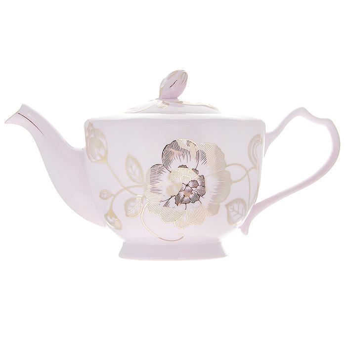Чайник заварочный Розовая соната, 1,8 л595-028Заварочный чайник Розовая соната изготовлен из высококачественного фарфора розового цвета. Он имеет изящную форму и декорирован нежным цветочным рисунком. Чайник сочетает в себе стильный дизайн с максимальной функциональностью. Красочность оформления придется по вкусу и ценителям классики, и тем, кто предпочитает утонченность и изысканность. Чайник упакован в подарочную коробку из плотного золотистого картона. Внутренняя часть коробки задрапирована белым атласом, и чайник надежно крепится в определенном положении благодаря особым выемкам в коробке.