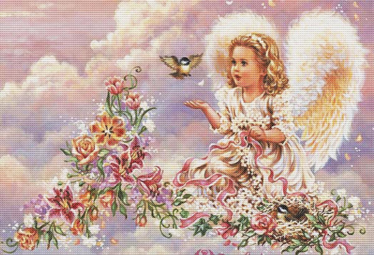 Набор для вышивания крестом Серебристый ангел, 44 х 33 см4002-14 Серебристый ангелКрасивый и стильный рисунок-вышивка, выполненный на канве, выглядит оригинально и всегда модно. В наборе для вышивания Серебристый ангел есть все необходимое для создания собственного чуда: канва, специальные нити, игла и схема рисунка. Работа, сделанная своими руками, создаст особый уют и атмосферу в доме и долгие годы будет радовать вас и ваших близких. Ведь вы выполните вышивку с любовью!