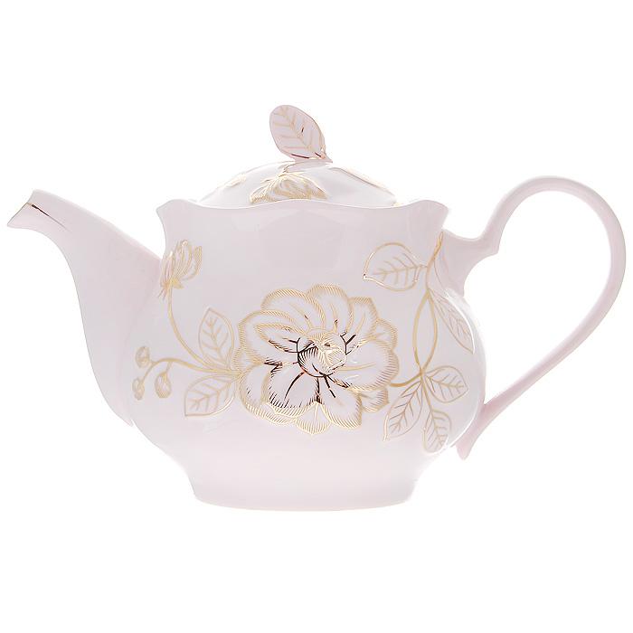 Чайник заварочный Розовый цветок, 1,4 л595-014Заварочный чайник Розовый цветок изготовлен из высококачественного фарфора розового цвета. Он имеет изящную форму и декорирован нежным цветочным рисунком. Чайник сочетает в себе стильный дизайн с максимальной функциональностью. Красочность оформления придется по вкусу и ценителям классики, и тем, кто предпочитает утонченность и изысканность. Чайник упакован в подарочную коробку из золотого картона с рисунком. Размер чайника (без крышки) (Д х Ш х В): 25 х 14 х 12 см.