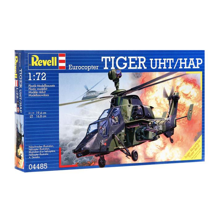 Сборная модель Боевой вертолет Eurocopter Tiger04485RСборная модель Боевой вертолет Eurocopter Tiger позволит вам и вашему ребенку собрать уменьшенную копию одноименного боевого вертолета. В комплект входят 116 пластиковых элементов. Процесс сборки развивает интеллектуальные и инструментальные способности, воображение и конструктивное мышление, а также прививает практические навыки работы со схемами и чертежами.