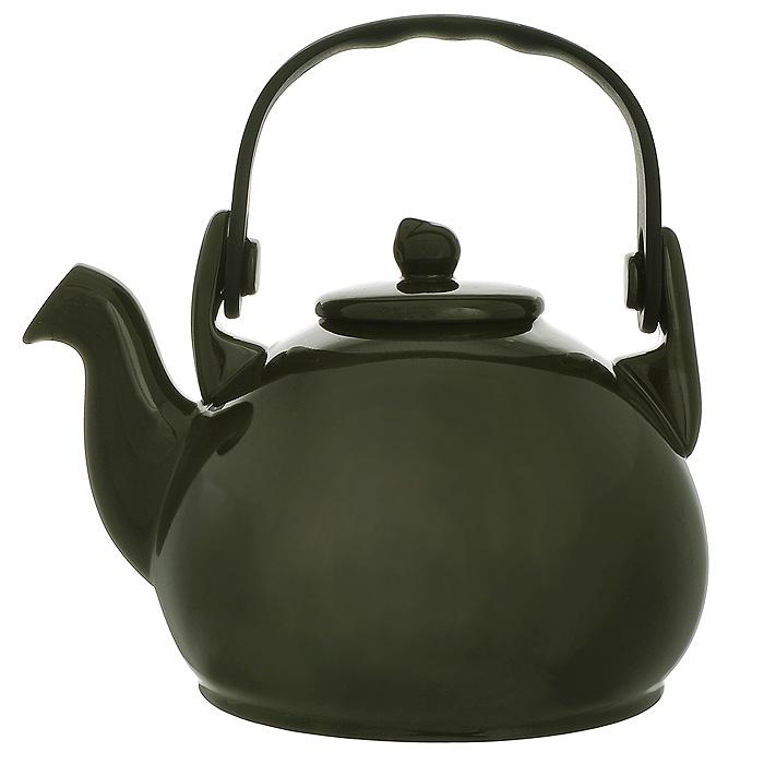 Чайник Colonial, 1,7 лN522629Чайник Colonial изготовлен из высококачественной керамики оливкового цвета. Он имеет удобную форму и съемную пластиковую ручку. Чайник можно использовать на открытом огне и в микроволновых печах. Покрывающая чайник эмаль устойчива к царапинам. Чайник Colonial сочетает в себе стильный дизайн с максимальной функциональностью. Характеристики: Материал: керамика. Объем чайника: 1,8 л. Размер чайника (без крышки) (Д х Ш х В): 21 см х 15 см х 12 см. Размер упаковки (Д х Ш х В): 23 см х 25 см х 23 см. Производитель: Бразилия. Артикул: N522629.