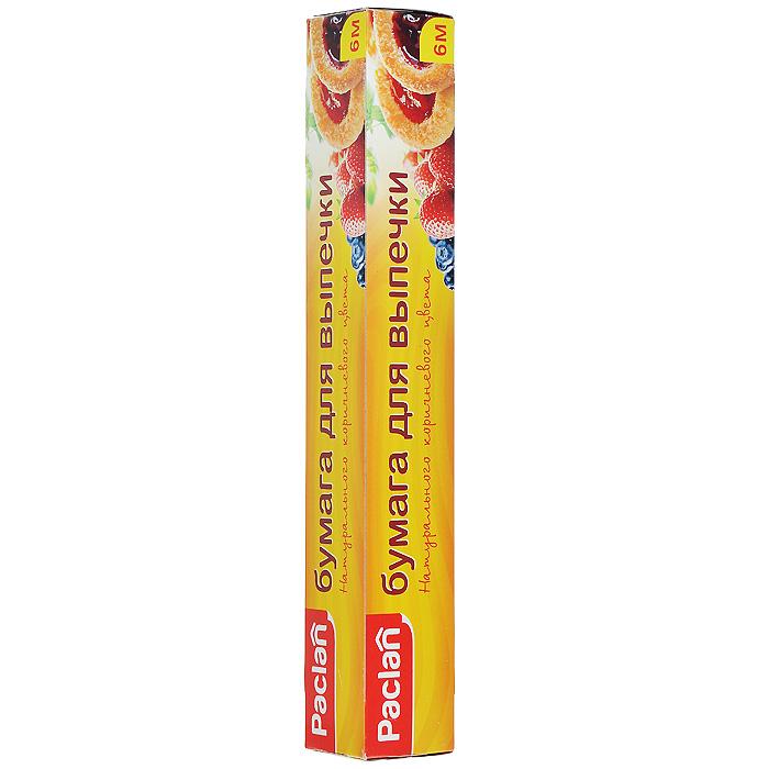 Бумага для выпечки Paclan, 6 м513550Бумага Paclan для выпечки натурального коричневого цвета с двухсторонним покрытием пищевым силиконом. Она предотвращает пригорание и прилипание выпекаемых изделий к противню и форме. Бумагу используют как подложку для пирогов, пирожных, пиццы и другой выпечки. Пригодна для использования в духовых шкафах и микроволновых печах. Бумага выдерживает температуру до + 230°С. Ширина бумаги 29 см. Длина рулона 6 м. Характеристики: Материал: бумага. Длина: 6 м. Размер упаковки: 30 см х 4,5 см х 4,5 см. Артикул: 513550.