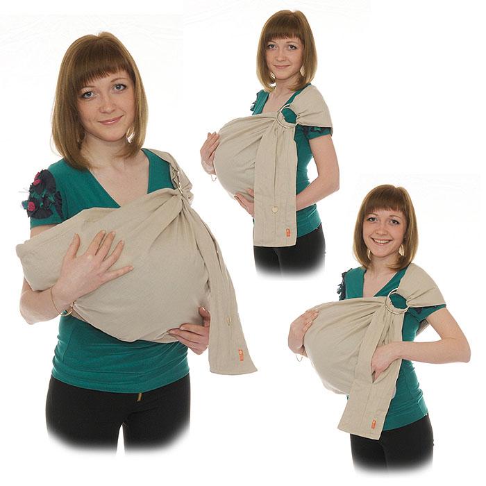 Слинг с кольцами Лен, цвет: натуральный. Размер МSKLn -00MСлинг-шарф с кольцами Лен - замечательный помощник для молодой мамы: освобождает руки, создает близкий контакт с малышом, позволяет покормить незаметно для окружающих, прекрасно успокаивает и усыпляет малыша, имеет множество положений, можно выбрать то, что подойдет именно вам! Этот слинг - для тех, кто ценит природную чистоту, мягкость и естественность. Он выполнен из 100% льна. Льняная ткань - одна из лучших тканей для слингов. Сделанная из экологически чистого волокна, она не липнет к телу, не позволяет коже вспотеть, отлично дышит и с каждой стиркой становится только мягче и комфортнее. В льняном слинге в жару будет чуть прохладнее, а в холода - чуть теплее, чем на открытом воздухе. Кроме того, лен - природный антисептик, обладает противоаллергенными и бактерицидными свойствами. Мягкие бортики и мягкое плечо слинга позволит вам пользоваться им с максимальным комфортом. А два вместительных кармана, расположенные на хвосте переноски, делает ее на редкость удобной в...