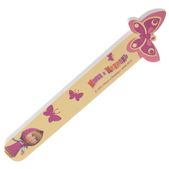 Детская пилочка для ногтей Бабочка328679Детская пилочка для ногтей Бабочка предназначена для легкого и комфортного ухода за детскими ноготками. Пилочка изготовлена из вспененного полимера, покрытого мелким абразивом, и оформлена изображением бабочки и Маши - героини популярного мульсериала Маша и медведь. Характеристики: Материал: вспененный полимер, абразив. Длина пилочки: 10 см. Изготовитель: Китай.