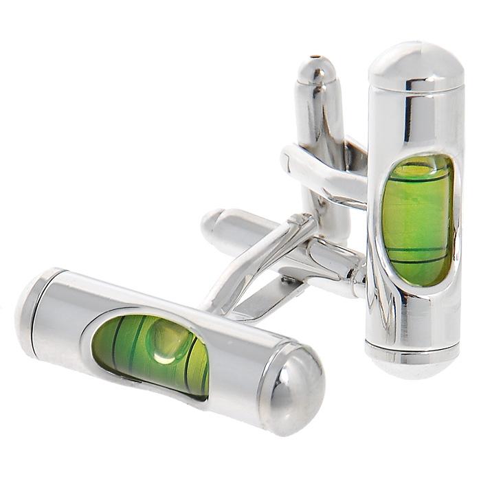 Запонки Цилиндр салатовый. ZAP-013ZAP-013Запонки Уровень изготовлены из серебристого металла с миниатюрными пузырьковыми уровнями зелёного цвета. Такие запонки, непременно, станут объектом внимания. Мужские запонки великолепного дизайна будут отличным подарком для каждого. Запонки - символ мужской элегантности. Они являются неотъемлемой частью вечернего туалета. Выбирайте запонки в зависимости от вашего настроения, а также впечатления, которое вы хотите произвести на окружающих. Изделие упаковано в подарочную коробку. Характеристики: Материал: металл. Размер декоративной части запонки: 0,7 см x 2,8 см. Высота запонки: 2,5 см. Размер упаковки: 8 см x 3 см x 4 см. Артикул: ZAP-13.