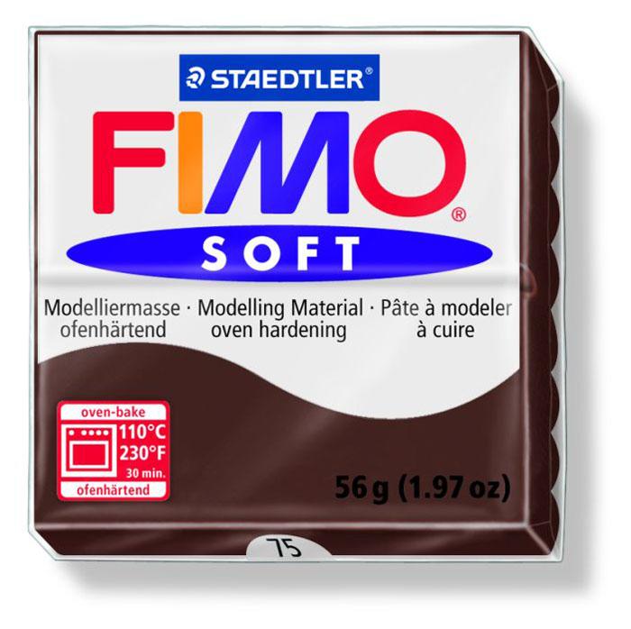 Глина для моделирования Fimo Soft, цвет: какао, 56 г8020-75Мягкая глина на полимерной основе (пластика) Fimo Soft идеально подходит для лепки небольших изделий (украшений, скульптурок, кукол) и для моделирования. Глина обладает отличными пластичными свойствами, хорошо размягчается и лепится, легко смешивается между собой, благодаря чему можно создать огромное количество поделок любых цветов и оттенков. Блок поделен на восемь сегментов, что позволяет легче разделять глину на порции. В домашних условиях готовая поделка выпекается в духовом шкафу при температуре 110°С в течении 15-30 минут (в зависимости от величины изделия). Отвердевшие изделия могут быть раскрашены акриловыми красками, покрыты лаком, склеены друг с другом или с другими материалами.